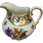 Dresden Schumann Bavaria Creamer Garden Flower & Gold Decorated