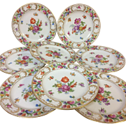 Set of 8 Dresden Schumann Bavaria Bread Butter Plate 6.25""