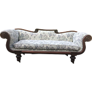 Circa 1820's Mahogany Classical Grecian sofa With Scrolled Arms