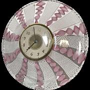 Vintage Mid Century Murano Glass Lux Clock