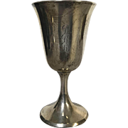 "Sterling Silver Stieff Water Goblet 6.5"" (2 available)"