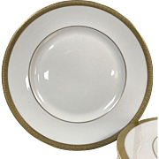 "Set of 24  Royal Doulton Royal Gold  10 1/2"" Dinner Plate H4980"