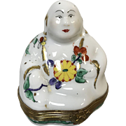 Beautiful Signed Limoges Buddah Trinket Box Hand Painted