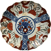Japanese Porcelain Imari Scalleped Edge Plate