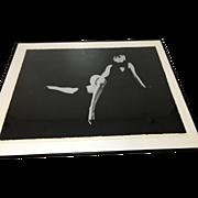 Milton Greene Serigraph Singed Artist Proof 3rd Black Seating of Marilyn Monroe