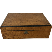 Antique Victorian 19th C. English Mahogany Slope Writing Lap Desk / Document Box