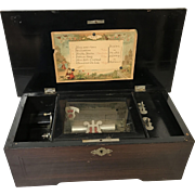 Antique 19th Century Swiss 6 Tune Music Box