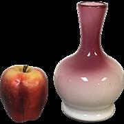 "7"" Peachblow Vase Polished Pontil"
