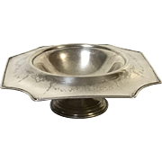 Art Deco Sterling Footed Center Piece Bowl Hand Chased