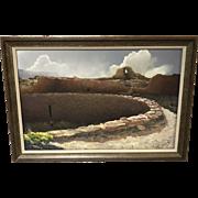 Paul Murray Original Pastel Titled Ventara Chaco Culture National Historical Park