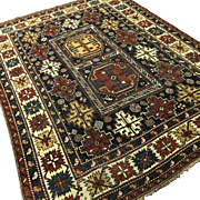 "Semi Antique Caucasian Rug 62"" x 47"""