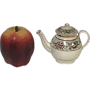 Rare Circa 1830's English Pearl wear Pink Luster Ware Miniature Teapot