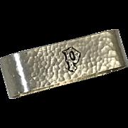 Art & Craft Hand Hammered Letter P Sterling Napkin Holder