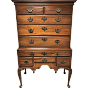Century Furniture Walnut Queen Anne Highboy