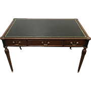 Baker Furniture Quality 3 Drawer Regency Leather Top Writing Desk