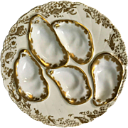 Antique French Limoges Haviland 5 Well Oyster Plate