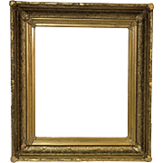 """Antique Gold Gessoed Frame for a 17.5"""" by 20.5"""" Art"""