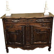Vintage Fine Carved 18th Century French Style Sideboard