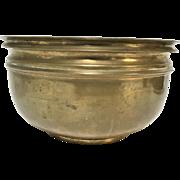 Heavy Asian Chinese Turned Bronze Bowl Vassel