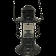 Vintage Perko Maritime Kerosene Ship Lantern With Kerosene Burner