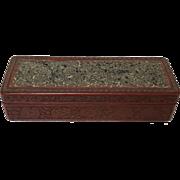Long Republican Period Chinese Carved Cinnabar Box