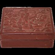 Vintage Chinese Cinnabar Carved Box