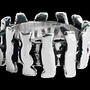 Vintage Brutalist Modernist Ring Mid Century Industrialism Sterling Silver Band