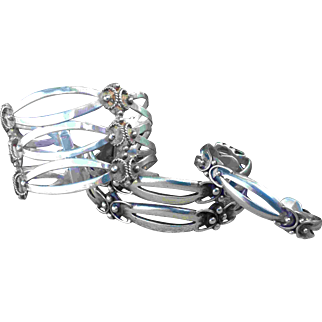 Rare Early Spratling 980 Maricela Silver Cuff Signed Isidro Garcia Pina Sterling 3 Bracelet Lot Emma