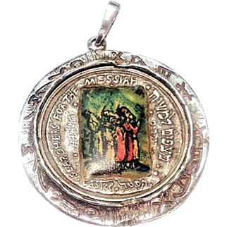 Messiah & Everlasting Love  State of Israel Medal , Silver 999 with lithograph   designed by   Moshe Castel.