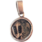 Authentic King Agrippa  coin set in Sterling Silver.
