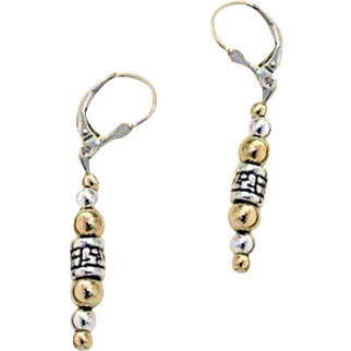 """""""The spirit of the Lord is on me"""" Silver and Gold Filled Vintage earring by Leehee"""