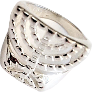 Sterling Silver Menorah Ring.