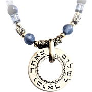 Silver Necklace with the verse : The LORD will Watch over your Coming and Going Silver necklace .