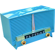 Robins Egg Blue 1954 Westinghouse Mid Century Vintage AM Radio Model H434T5