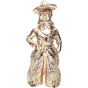 VINTAGE COWBOY LIGHTER - Working Occupied Japan Cowboy Western Style Figural Japanese Made Metal Table Lighter