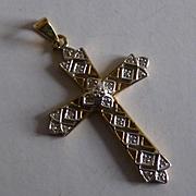 21 Diamond  Gold Cross