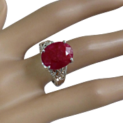 Very Large RUBY Ring at a small price