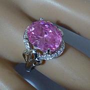 8.50 Carat PINK Sapphire & Diamond Ring * * * * *