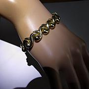 "Hallmarked ""Wave"" design Gold Bracelet"
