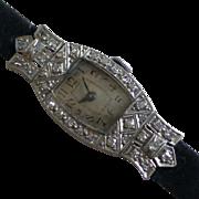 Mechanical Diamond Ladies watch - ALL Platinum