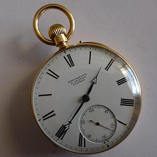 ENGLISH Hallmarked Mechanical Pocket 18 K 1890