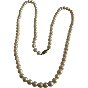 "98, 18"" single Row of Cultured Pearls"