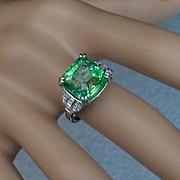 6.50 Carat Emerald & Diamond Ring ….all at this price !