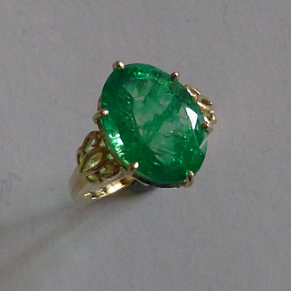 Almost  8 Carat Emerald Ring……….. at this price !