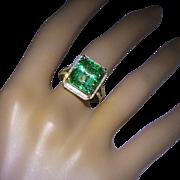 10 carat Natural EMERALD & Diamond Ring ! ! !