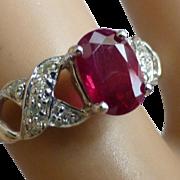 Nice Ruby & Diamond Ring , At a nice PRICE !