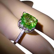 Over 6 carat EMERALD & Diamond ring….at this price !