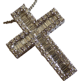 Over 2 carat of Diamonds in 18k Cross….at this price !
