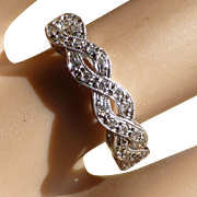 Pretty Diamond 18k Plated Ring