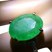 LARGE Natural  Emerald at this PRICE !